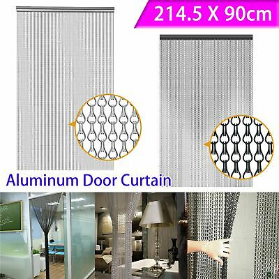 Metal Chain FLY Pest INSECT DOOR SCREEN CURTAIN Control Silver Black Blue