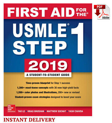 First Aid for the USMLE Step 1 2019, 29 Edition by Tao Le 🔸📧(email delivery)🔸