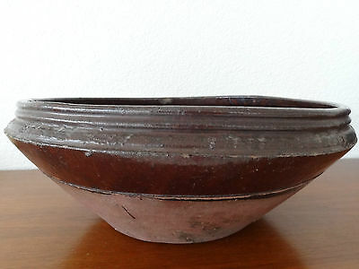 Antique Japanese Stoneware Mixing Bowl