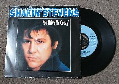"SHAKIN STEVENS you drive me crazy 7"" vinyl jukebox record EPC A1165"