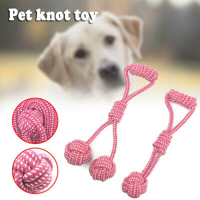 Strong Tough Pet Dog Chew Toy Cotton Rope Knots Puppy Teeth Cleaning Knot Toys