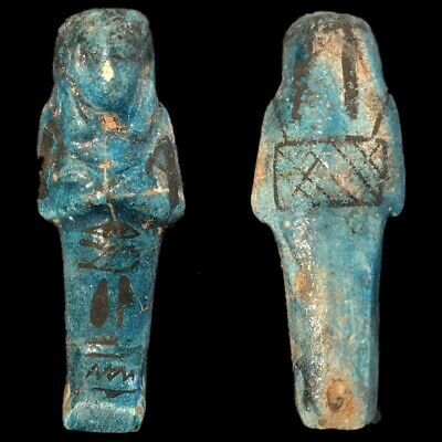 EGYPTIAN HIEROGLYPHIC SHABTI (1) Large Over 10 cm !!!!