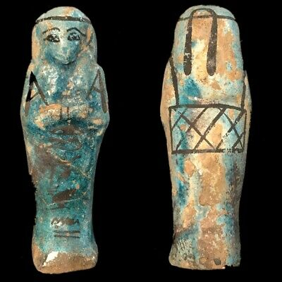 EGYPTIAN HIEROGLYPHIC SHABTI (2) Large Over 10 cm !!!!