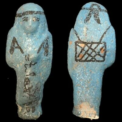 EGYPTIAN HIEROGLYPHIC SHABTI (3) Large Over 9 cm !!!!