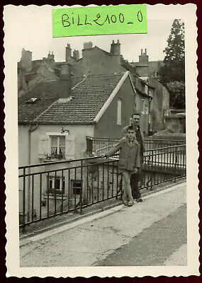 photo ancienne vintage . Langres .  1960
