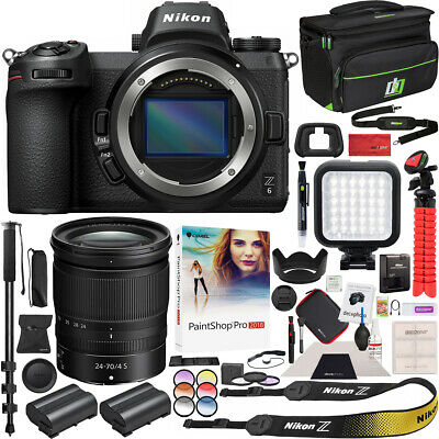 Nikon Z6 Mirrorless Digital Camera & NIKKOR Z 24-70mm F4 S Lens Accessory Bundle