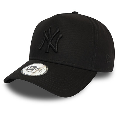 New Era New York Yankees Baseball Cap.9Forty Mlb Black League A Frame Hat 9W2 6