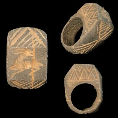 Ancient Gandhara Stone Intaglio Seal Ring, 300 Bc (3)