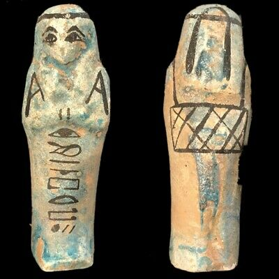 EGYPTIAN HIEROGLYPHIC SHABTI (4) Large Over 10 cm !!!!
