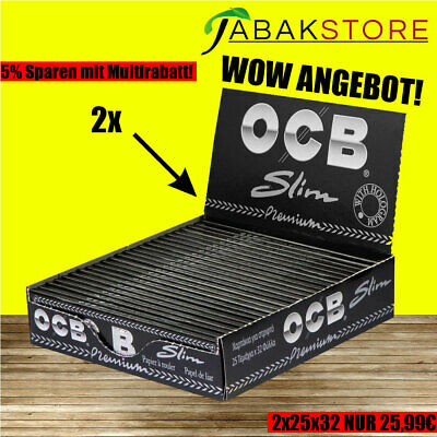 50 OCB BLACK SCHWARZ PREMIUM LONG SLIM Papers Papier