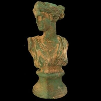 ROMAN ANCIENT BRONZE BUST STATUE- 200-400 AD (1) LARGE 14.5 Cm Tall !!!!!