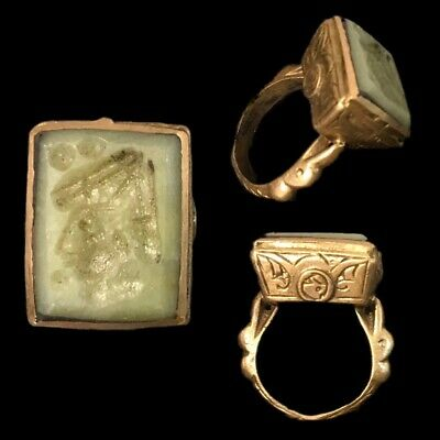 Stunning Top Quality Jade Intaglio Seal Stone Ring (2)
