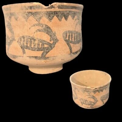 Roman Indus Valley Polychrome Storage Vessel, Rare Ancient Artifact (6)