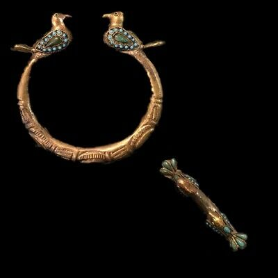 Ancient Decorative Gandhara Bedouin Torc With Birds 300 B.C. (1)