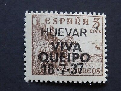 (1) MNH Spanish Civil War Tafalla stamp off paper