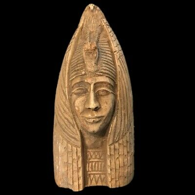 EGYPTIAN PHAROAH BUST STATUE, LATE PERIOD 664 - 332 BC (3) Large Over 15 Cm