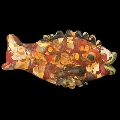Very Rare Large Phoenician Glass Fish 300Bc Super Quality (11)