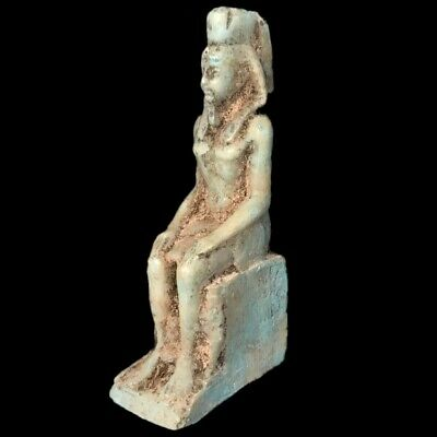 Egyptian Pharaoh Statue, Late Period 664 - 332 Bc (5)
