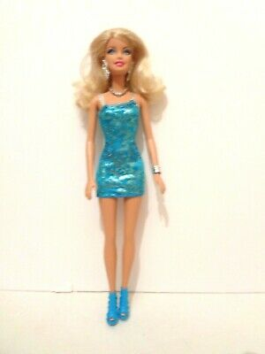 Barbie Glitz and Glam Doll Blue Dress & Accessories
