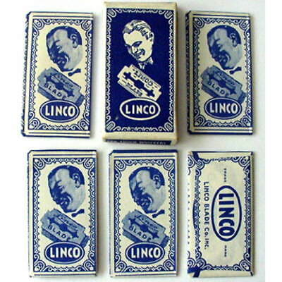 Vintage  LINCO   FULL BOX DE  Safety Razor Blades