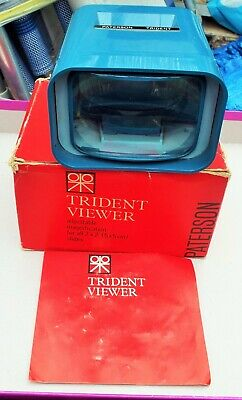 Paterson Trident Slide Viewer Boxed with Instructions. Photographic.