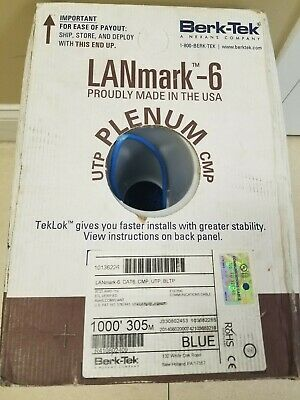 LANmark- Cat 6 Cable (blue) 1000 ft.