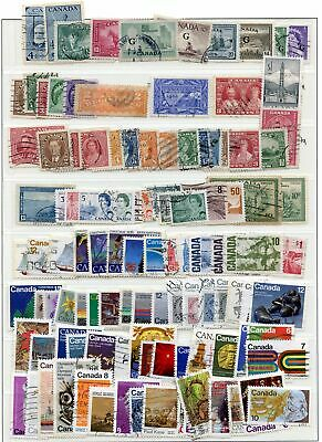 Lot 79832  Canada 100+ Used Canadian Stamps