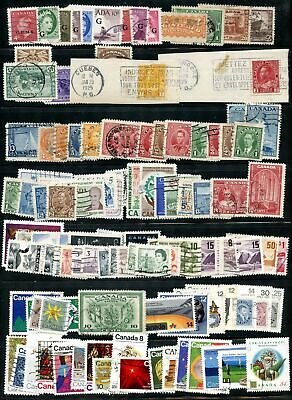Lot 79830  Canada 100+ Used Canadian Stamps