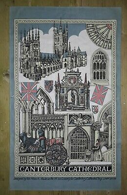 Canterbury Cathedral  Cotton Tea Towel By Pat Albeck With Small Mark
