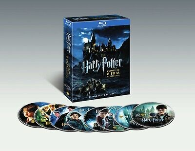 HARRY POTTER - Complete 8 Film Collection [Fantasy] 8 Disc Blu-ray Set