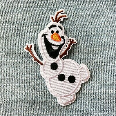 Frozen Olaf Kids Movie Cartoon Embroidered Patch, Embroidery Patches Iron Sew On