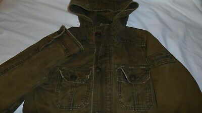 Abercrombie & Fitch Boy's Green Hooded Jacket Size Large L Sentinel