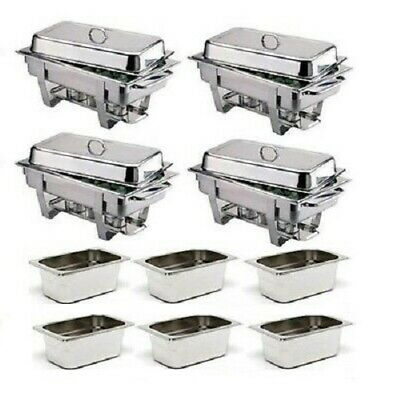 Pack Four Olympia Chafing Dishes & Six Extra 1/3 Pans *Free Next Day Delivery*