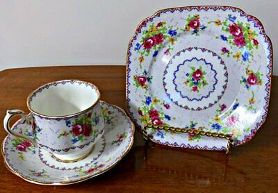 Royal Albert Trio Cup Saucer and Plate Petit Point China