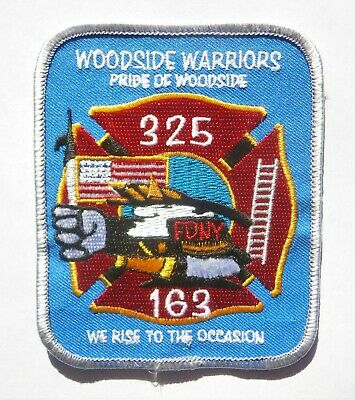 HTF FDNY Fire Department Of New York N.Y. Woodside Warriors 325 ~ 163 Patch