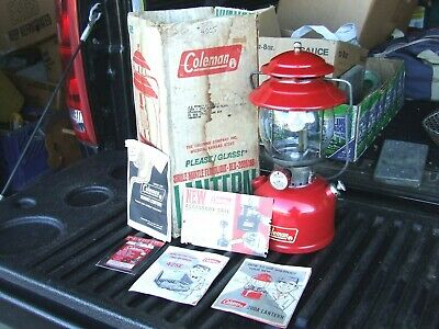 Coleman Single Mantle Floodlight Red 200A 195 Lantern - In Box Plus-