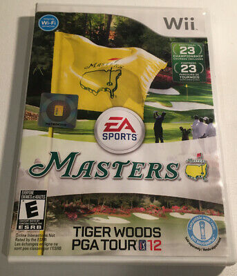 Tiger Woods PGA Tour 12: The Masters Nintendo Wii Complete CIB Tested