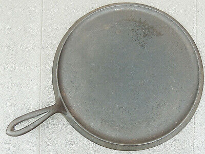 "Antique Vintage ""Erie"" Pre Griswold No. 9 Round Griddle Cast Iron, p/n 739"