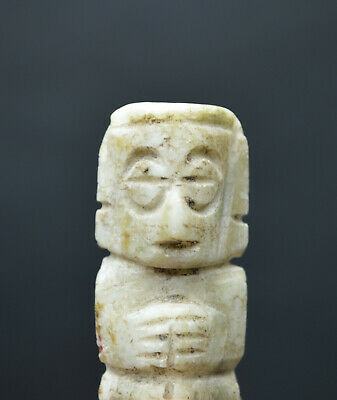 Authentic Jade Stone Figure Mixtec Pre Columbian Artifact Mexico