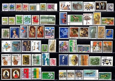 225+ CANADA STAMPS, 1977-2019, Used, Coils, Plate & Booklet varieties, SOTN