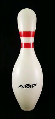 AMF Bowling Pin Plastic Money Box Removable Base in Very Good Overall Condition.