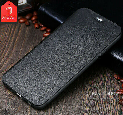 For Apple iPhone 11 Pro/11 Pro Max X-Level PU Leather Slim Flip Case Cover Stand