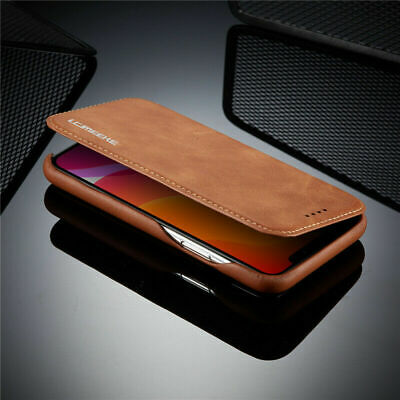 For iPhone 11 Pro Max Luxury Genuine Magnetic Flip Leather Wallet Case Cover