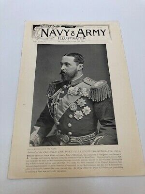 RARE - THE NAVY AND ARMY ILLUSTRATED JAN 3rd 1896 VOL I - NO. 2