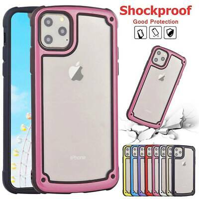 For iPhone 11 Pro Max Clear PC +Soft TPU Case Shockproof Hard Bumper Back Cover