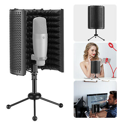 Neewer NW-13 Foldable Compact Microphone Isolation Shield with Tripod Stand