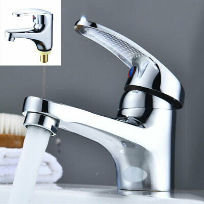 Bathroom Basin Sink Faucet Single Cold Water Tap Deck Mounted Single Handle Hole