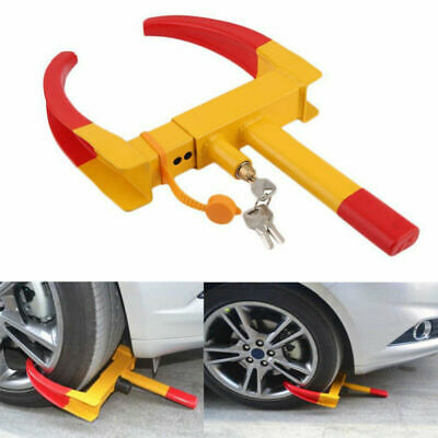 Heavy Duty Anti-Theft Car Vehicle Motorcycle Tire Wheel Lock Security Tyre Clamp