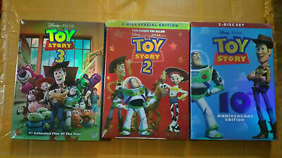 Toy Story 1 2 & 3 (DVD Trilogy)  Complete 3 Movies!   Brand New - SHIP SAME DAY!