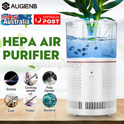 AUGIENB 300m3/h Air Purifier TURE HEPA Filter Humidifier Smoke Dust Odor Cleaner